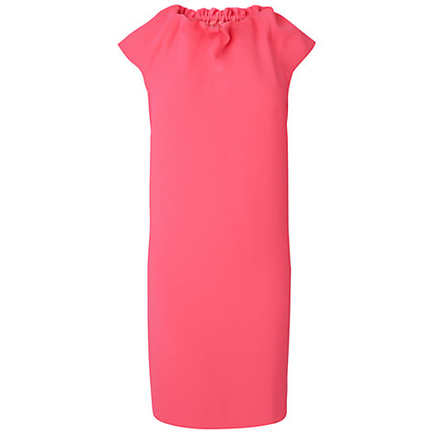 Buy Jaeger High Neck Capped Sleeve Dress, Pink Online at johnlewis.com