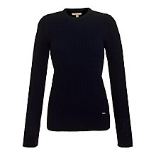 Buy Barbour Langdale Crew Neck Lambswool Jumper, Navy Online at johnlewis.com