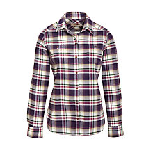 Buy Barbour Carnie Check Shirt, Grape Online at johnlewis.com