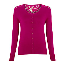 Buy Alexon Lace Back Cardigan, Pink Online at johnlewis.com