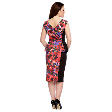 Buy Alexon Floral Print Peplum Top, Purple Online at johnlewis.com