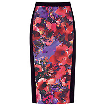 Buy Alexon Floral Print Skirt, Purple Online at johnlewis.com