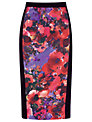 Alexon Floral Print Skirt, Purple
