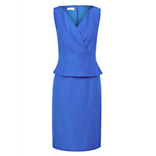 Buy Kaliko Peplum tuck Front Jersey Dress, Blue Online at johnlewis.com