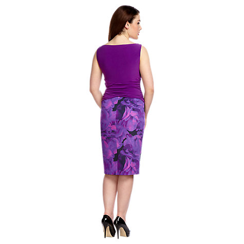 Buy Alexon Fabric Block Dress, Purple Online at johnlewis.com
