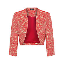 Buy Alexon Red Lace Jacquard Bolero, Red Online at johnlewis.com