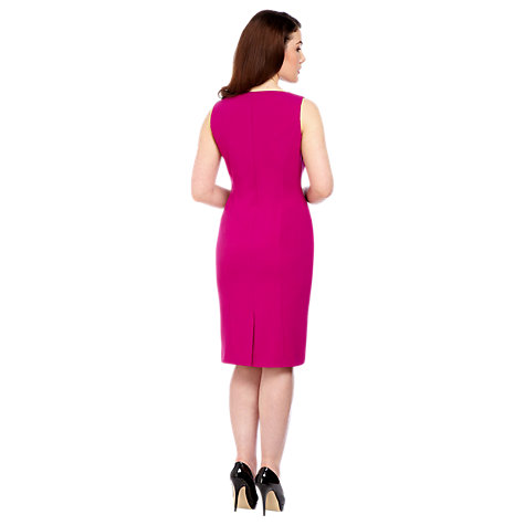 Buy Alexon Crepe Wrap Dress, Pink Online at johnlewis.com