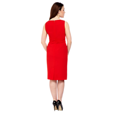 Buy Alexon Chiffon Dress, Red Online at johnlewis.com