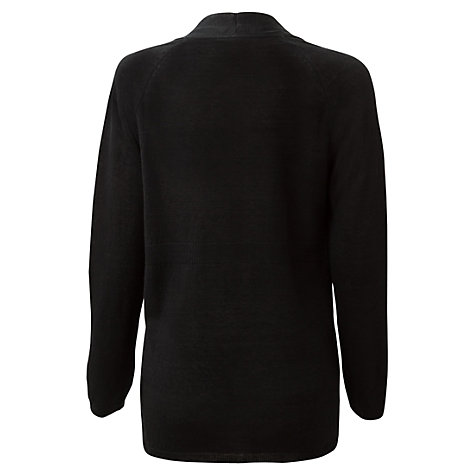Buy East Longline Stitch Cardigan, Black Online at johnlewis.com
