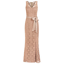 Buy Kaliko Lace Bow Detail Maxi Dress, Stone Online at johnlewis.com