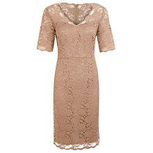 Buy Kaliko Lace Empire Line Dress, Neutral Online at johnlewis.com