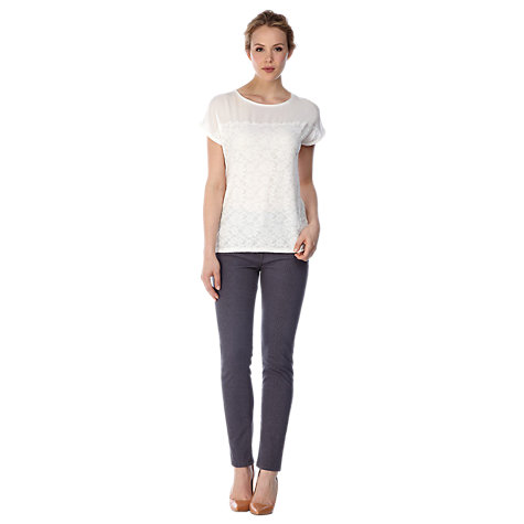 Buy Kaliko Snake Print Jeans, Grey Online at johnlewis.com