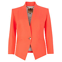 Buy Ted Baker Neon Stretch Blazer, Light Orange Online at johnlewis.com