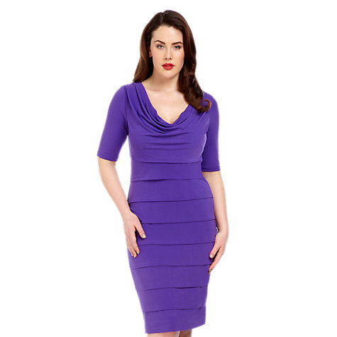 Buy Alexon Cowl Neck Jersey Dress, Purple Online at johnlewis.com