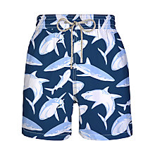 Buy Vilebrequin Moorea Shark Print Swim Shorts Online at johnlewis.com