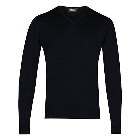 Buy John Smedley Bobby Low V-Neck Jumper Online at johnlewis.com