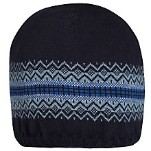 Buy John Smedley Hamble Knitted Hat, Midnight Blue Online at johnlewis.com