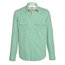 Buy Levi's Sawtooth Western Gingham Long Sleeve Shirt Online at johnlewis.com