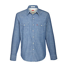 Buy Levi's Barstow Denim Shirt, Blue Chambray Online at johnlewis.com