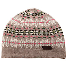 Buy Barbour Laura Fairisle Beanie Hat, Stone Online at johnlewis.com