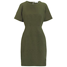 Buy Whistles Tia Jacquard Longer Dress, Khaki Online at johnlewis.com