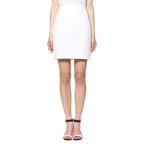 Buy Whistles Tia Jacquard Skirt, White Online at johnlewis.com