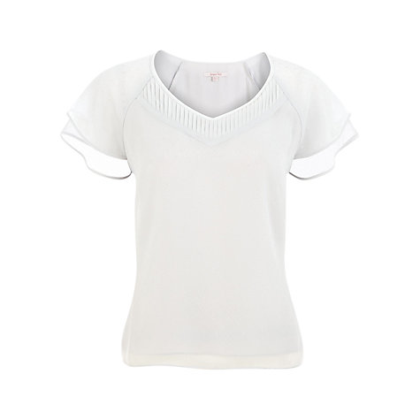 Buy Jacques Vert Chiffon Top, Silver Steel Online at johnlewis.com