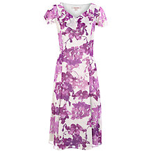 Buy Jacques Vert Cracked Floral Tea Dress, Purple Online at johnlewis.com