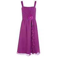 Buy Jacques Vert Waterfall Dress, Iris Online at johnlewis.com