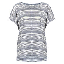 Buy Whistles Karla Striped Bubble Top, Navy Online at johnlewis.com