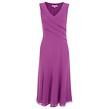 Buy Jacques Vert Pleated Chiffon Dress, Iris Online at johnlewis.com