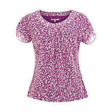 Buy Jacques Vert Brushstroke Print Blouse, Purple Online at johnlewis.com