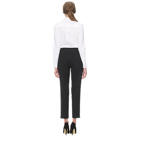 Buy Whistles Lula Tailored Trousers, Black Online at johnlewis.com
