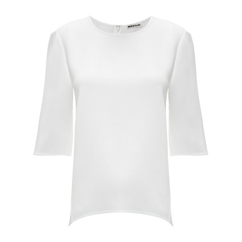 Buy Whistles Sculptured Top Online at johnlewis.com