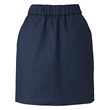 Buy Whistles Cotton Mix Short Skirt, Navy Online at johnlewis.com