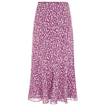 Buy Jacques Vert Brushstroke Print Skirt, Purple Online at johnlewis.com