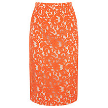 Buy Coast Maurizia Lace Skirt, Orange Online at johnlewis.com