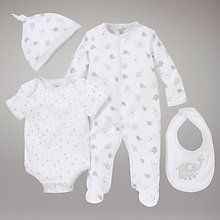 Buy John Lewis Baby 4 Piece Elephant Set, White Online at johnlewis.com