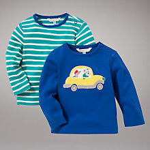Buy John Lewis Baby Stripe and Taxi Tops, Pack of 2, Multi Online at johnlewis.com