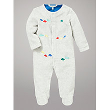 Buy John Lewis Baby Bumper Cars Sleepsuit, Grey Online at johnlewis.com