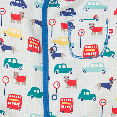 Buy John Lewis Baby Traffic and Dogs Print Sleepsuit With Hat, Multi Online at johnlewis.com