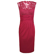 Buy Alexon Lace Top Dress, Red Online at johnlewis.com