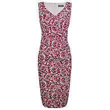 Buy Alexon Floral Jacquard Rose Print Dress, Red Online at johnlewis.com