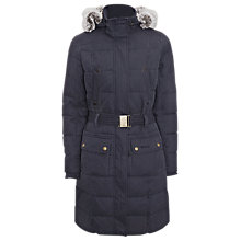 Buy Barbour Belton Quilted Jacket, Navy Online at johnlewis.com