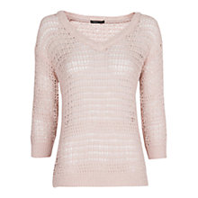 Buy Mango Open Knit Jumper, New Crudo Online at johnlewis.com