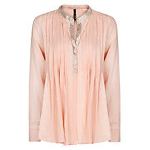 Buy Mango Beaded Blouse, Vintage Rose Online at johnlewis.com