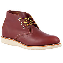 Buy Red Wing Heritage Work Leather Chukka Boots, Copper Online at johnlewis.com
