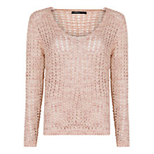 Buy Mango Flecked Jumper, Pale Pink Online at johnlewis.com