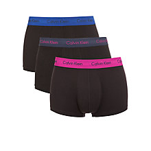 Buy Calvin Klein Underwear Stretch Cotton Trunks, Pack of 3, Black Online at johnlewis.com