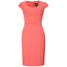 Buy Adrianna Papell Seamed Sheath Dress, Coral Online at johnlewis.com